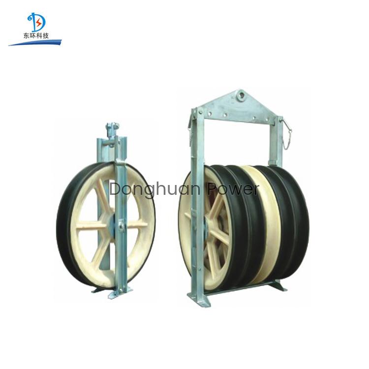 Ruedas de gran diámetro de 916 mm Gavillas Paquete de cables de polea conductor de alambre incluido