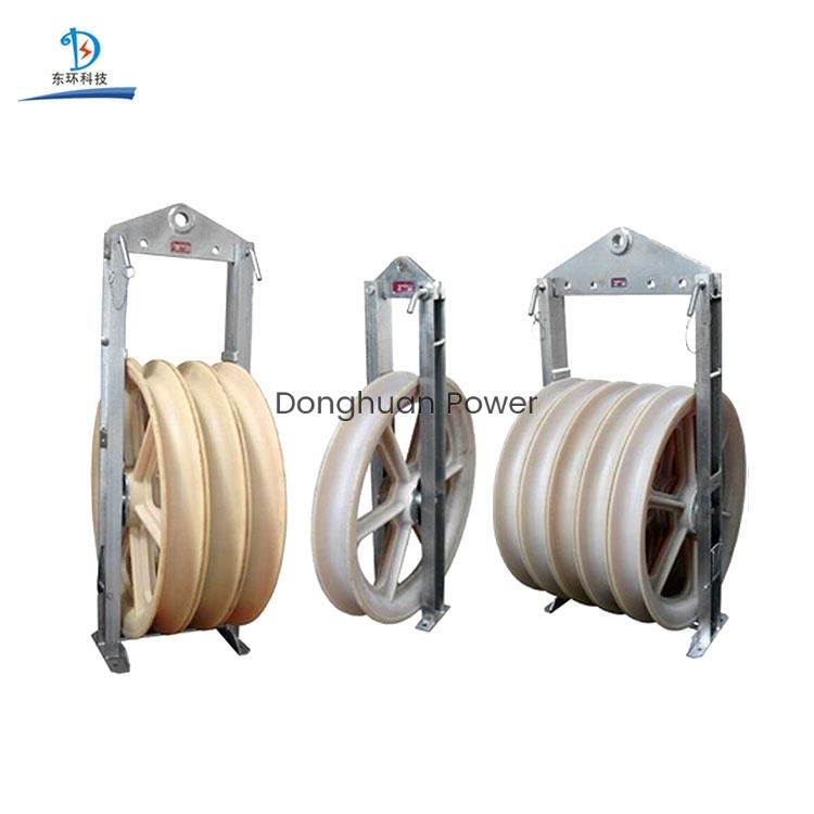 Bloque eléctrico de 508 mm de diámetro grande Polea de nylon Polea Cable de elevación Polea Bloque eléctrico para conductores