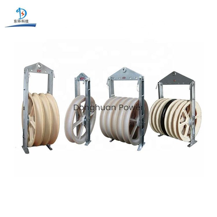 822mm de gran diámetro Ruedas Poleas Paquete de alambre conductor Polea Bloque de encordado