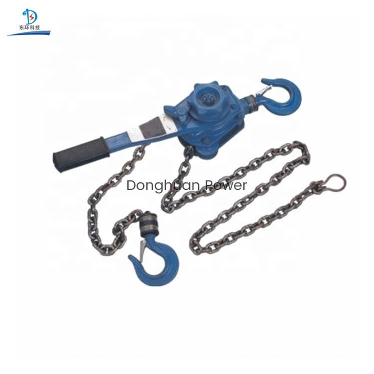 Bloque de aparejos de elevación de manija tipo cadena, bloque de polea de cadena
