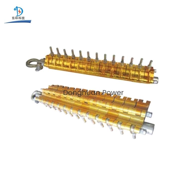 Despacho rápido Vender Abrazadera Conductor Pinza Tipo de segmento múltiple Aleación de aluminio Conductor Pinza de alambre