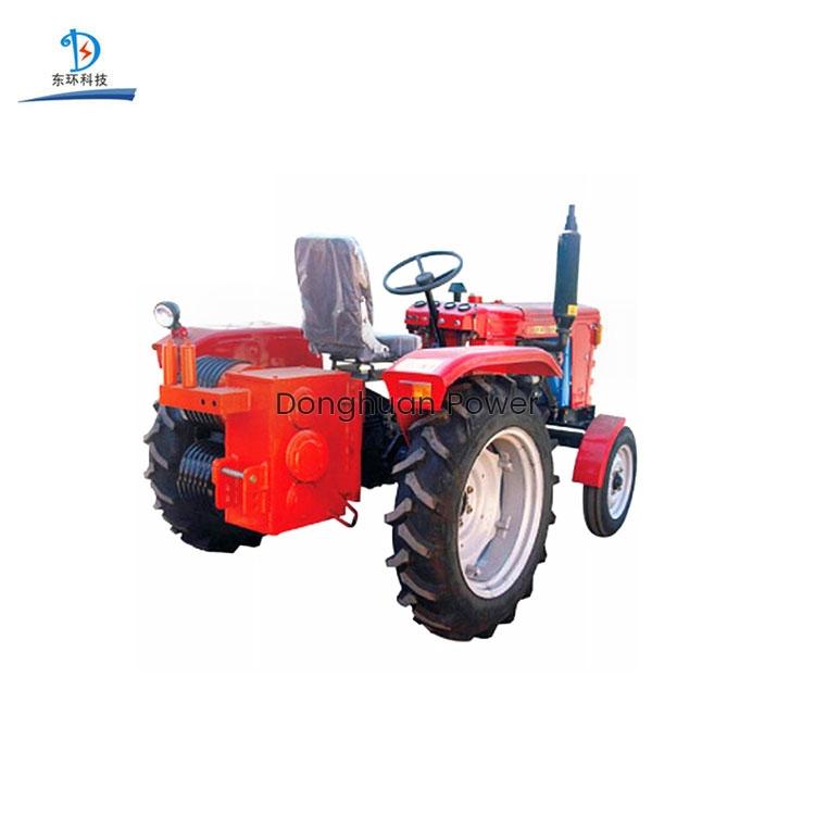 Cabrestante traccionado por doble tambor / cabrestante de tractor para caminar / máquina tractora