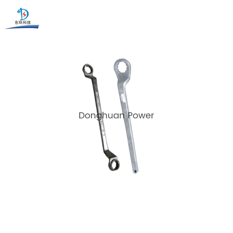 Llave de ciruela de doble anillo / Herramientas de encordado de líneas de transmisión de acero de aleación senior Llave de tubo eléctrico