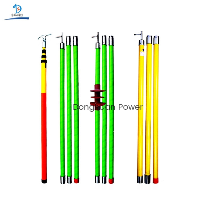 Varilla de tracción de freno de alto voltaje ultraprotable de fibra de vidrio