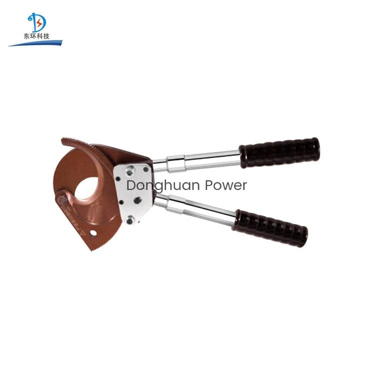 Mano Fácil operación Herramientas de corte con trinquete blindado Cortador de alambre manual Cortador de cable eléctrico