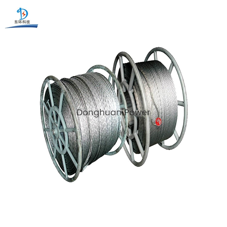 Hexágono Doce hebras Hexágono Dieciocho hebras para cuerda de alambre de acero trenzado galvanizado anti-torsión galvanizado de 9-42 mm