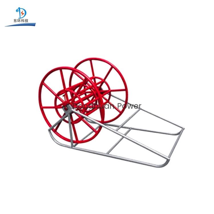 Soporte de carrete de cuerda de alambre de alta calidad Soporte de pago de tambor de cable