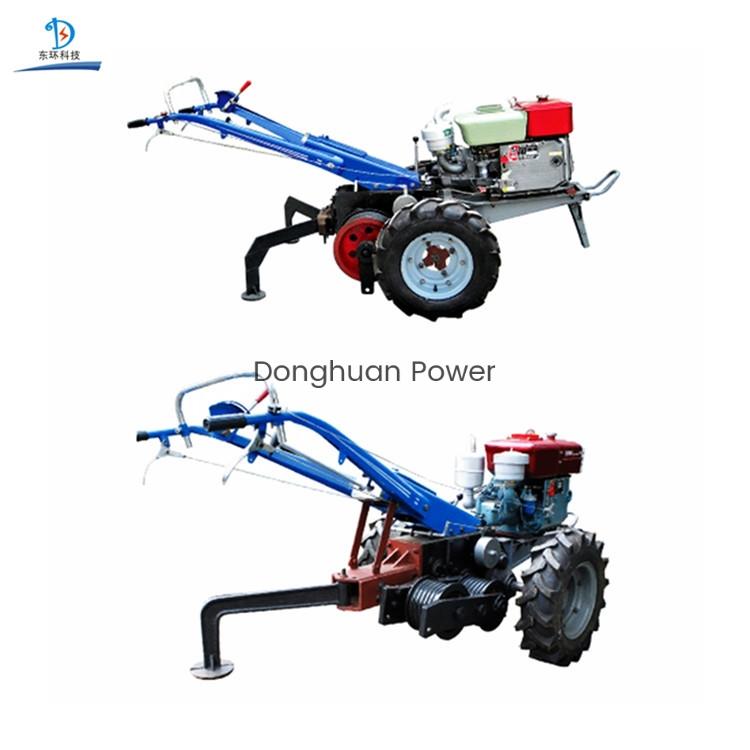 Tractor de cabrestante de doble tambor de alta velocidad / cabrestante de tractor para caminar / máquina tractora