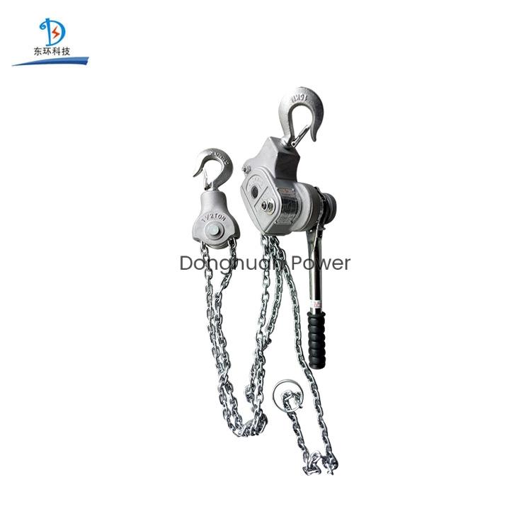 Tipo de cadena de aleación de aluminio Buena calidad Manija manual Serie Elevación elevador de cadena eléctrico