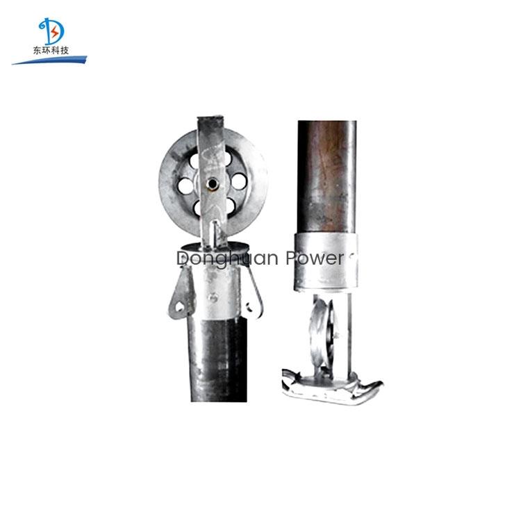 Poste de ginebra tubular suspendido interiormente para torre de potencia de erección Poste ajustable de aluminio