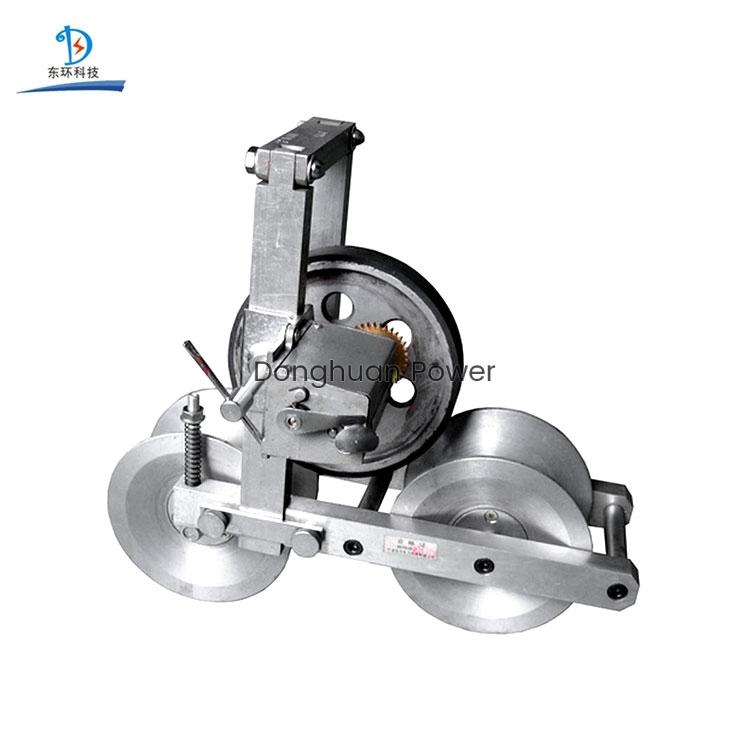 Empuje manual inteligente Contador mecánico de tres ruedas Cable Conductor Instrumento de medición de longitud del cable