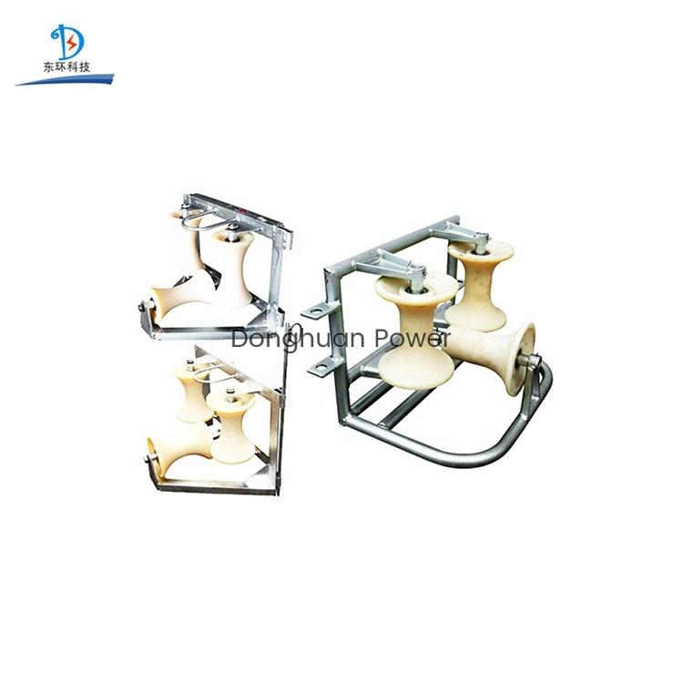 Material de aleación de aluminio de nylon Ruedas Polea guía de bloque de tierra Artículo Poleas triples Tipo Rodillo de cable de esquina