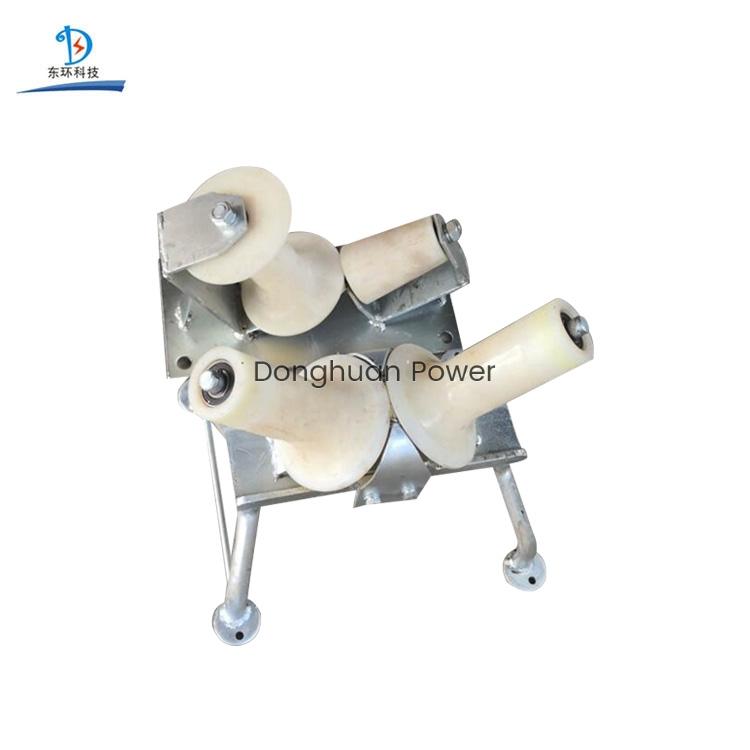 Rodillo de tendido de cables de giro de bloque de hilo de nailon unidireccional