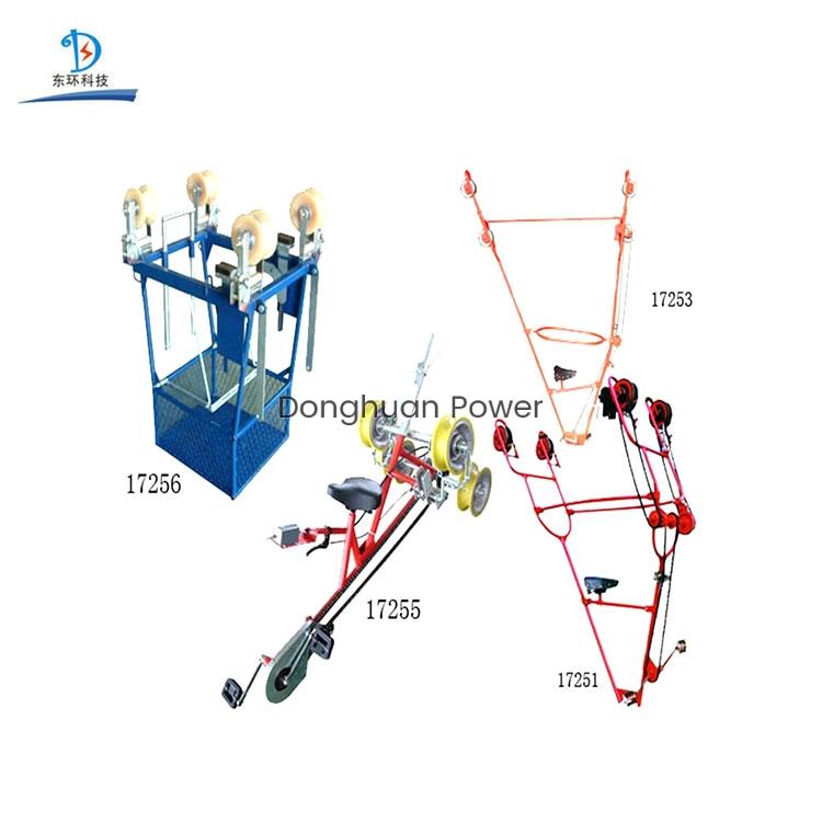 Líneas aéreas Carro / bicicletas para carro de inspección de dos conductores