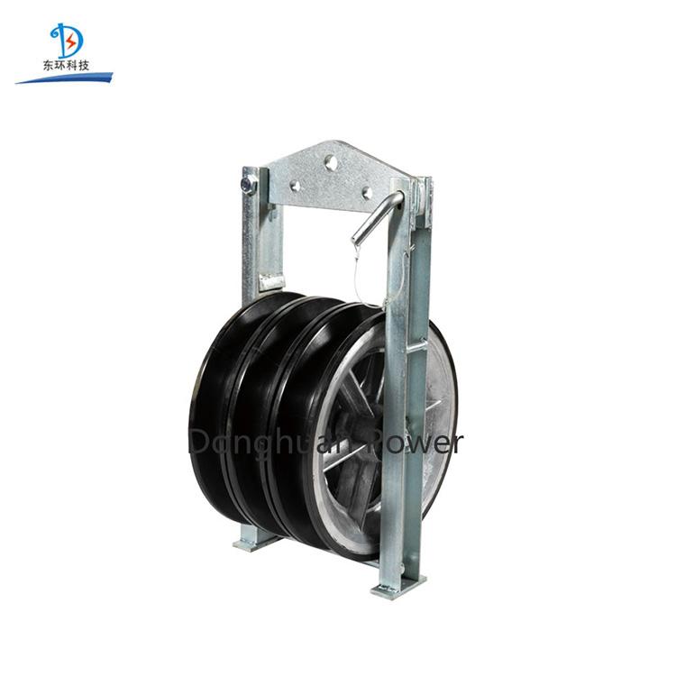 Conductor de transmisión Poleas de aluminio triples Polea forrada de neopreno Bloque de polea