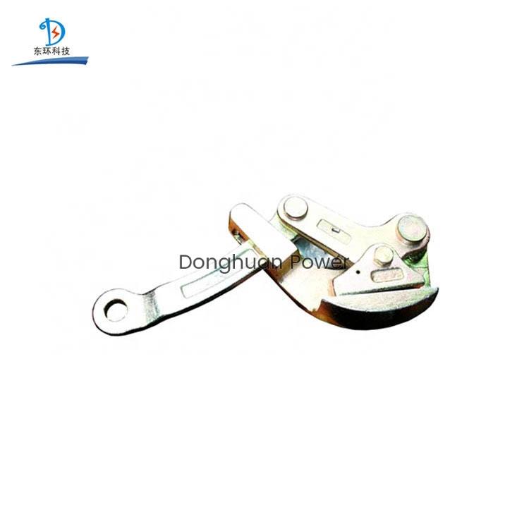 Pinza de cuerda de tierra de leva única para la transmisión de potencia y el conductor de distribución vienen junto abrazadera
