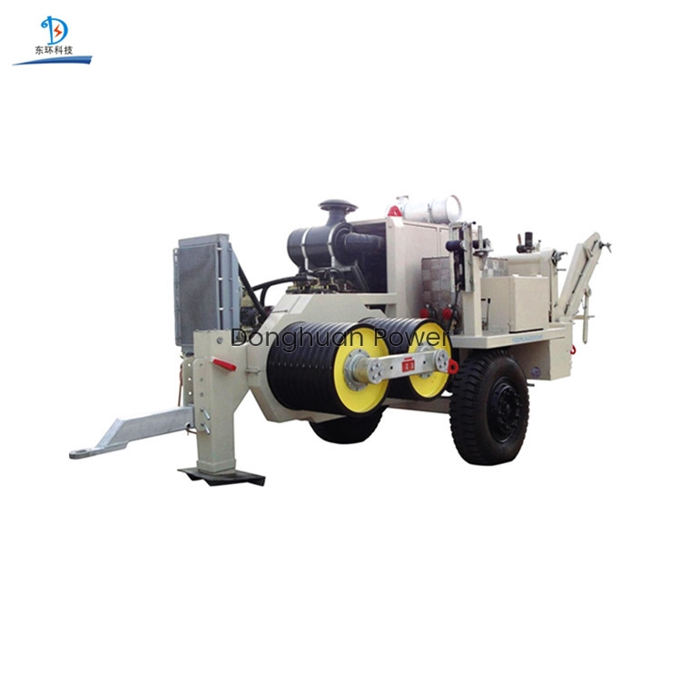 Equipo de tracción hidráulica para la construcción de líneas aéreas de transmisión