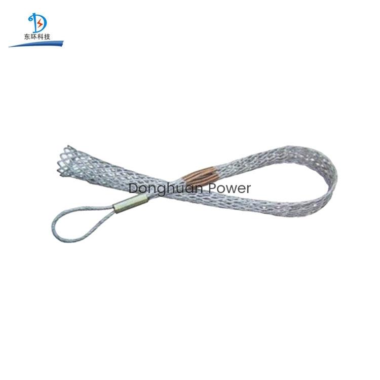 Colocación de cables Construcción Cuerda de alambre Tirando Conductor Cable Malla Calcetines Junta
