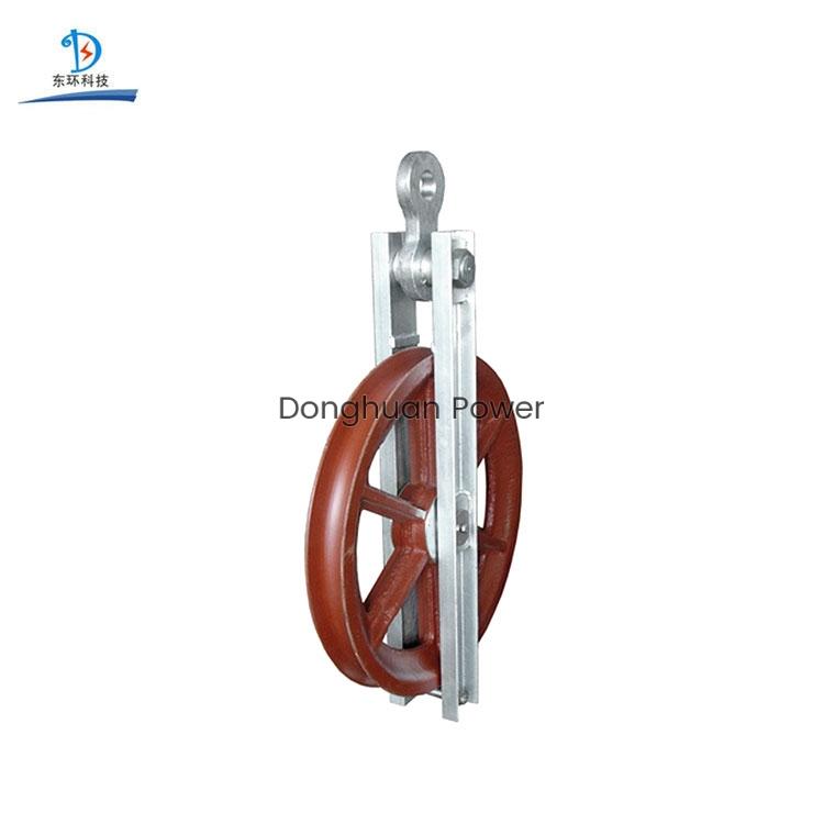 Bloque de polea de la cuerda de cable de la cuerda de alambre para el bloque de torneado de alta velocidad del conductor