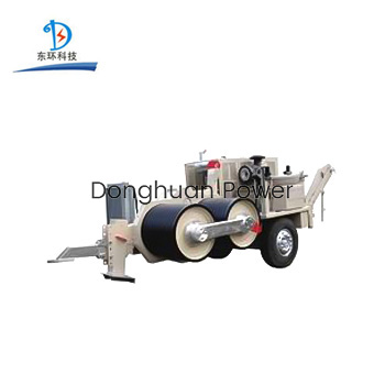 Lanzamiento del cable 420KN que tira del extractor hidráulico con el motor eléctrico para la línea de construcción de la transmisión
