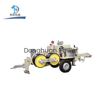 Línea de transmisión de equipos de cadena de tracción hidráulica para la construcción de líneas aéreas de transmisión