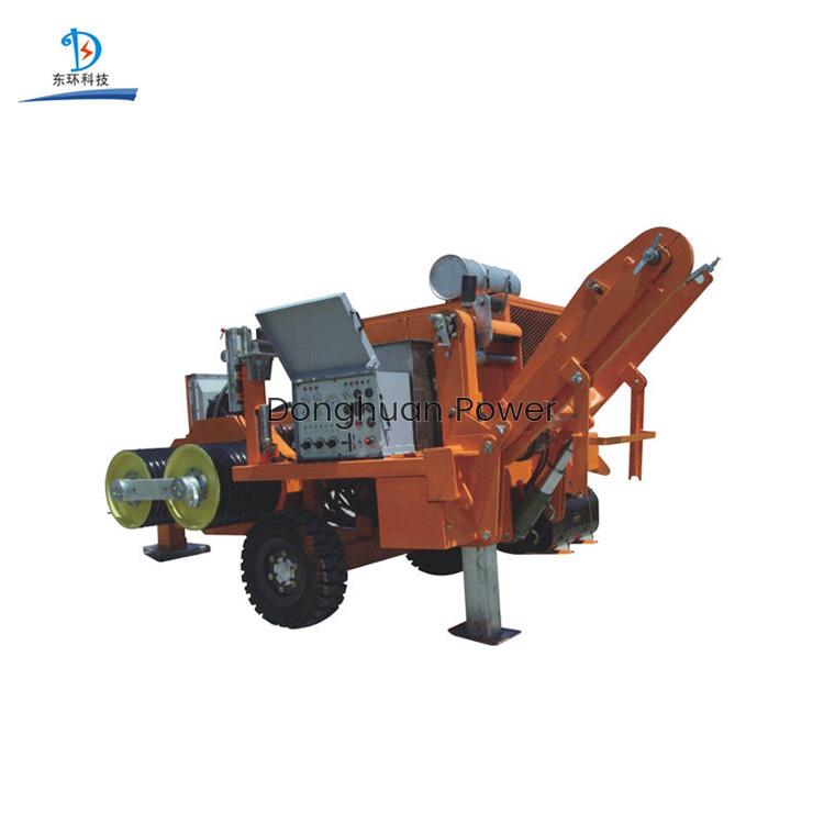 Tensor hidráulico extraíble 250KN duradero para cuatro conductores de 9000 kg de peso