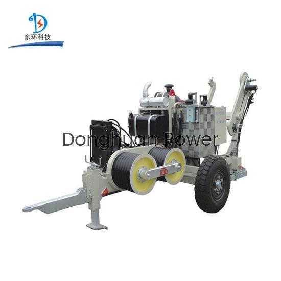 Construcción de encordado eléctrico SA-YQ60 60KN Extractor de cable hidráulico con motor diesel