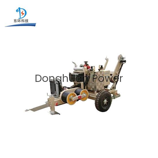 Extractor hidráulico del tensor de la rueda de toro de la capacidad de SA-YQ40 40KN con 5 surcos para atar el conductor
