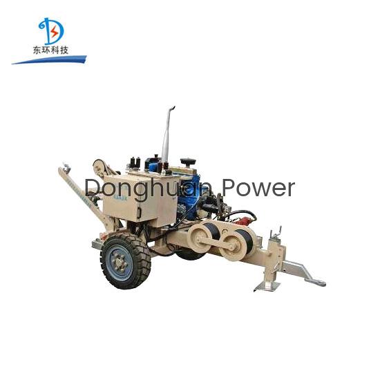 Tensor del tirador del cable 30KN / tirador del cable hidráulico con el motor diesel para la línea de transmisión 220KV